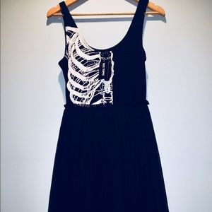 NWT Ribcage Tulle Black Dress Iron Fist/Hot Topic